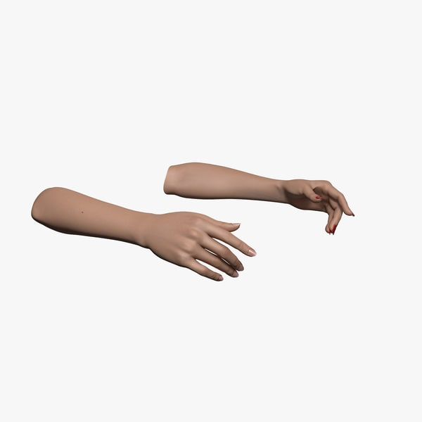 rigged human hands female c4d