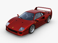 3d ferrari f40 luxury