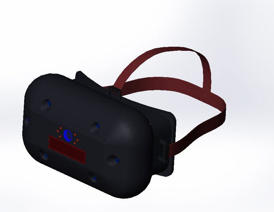 head-mounted display gauges 3d model