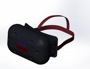 head-mounted display gauges 3d model