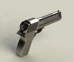 3d iron big shiny gun barrel