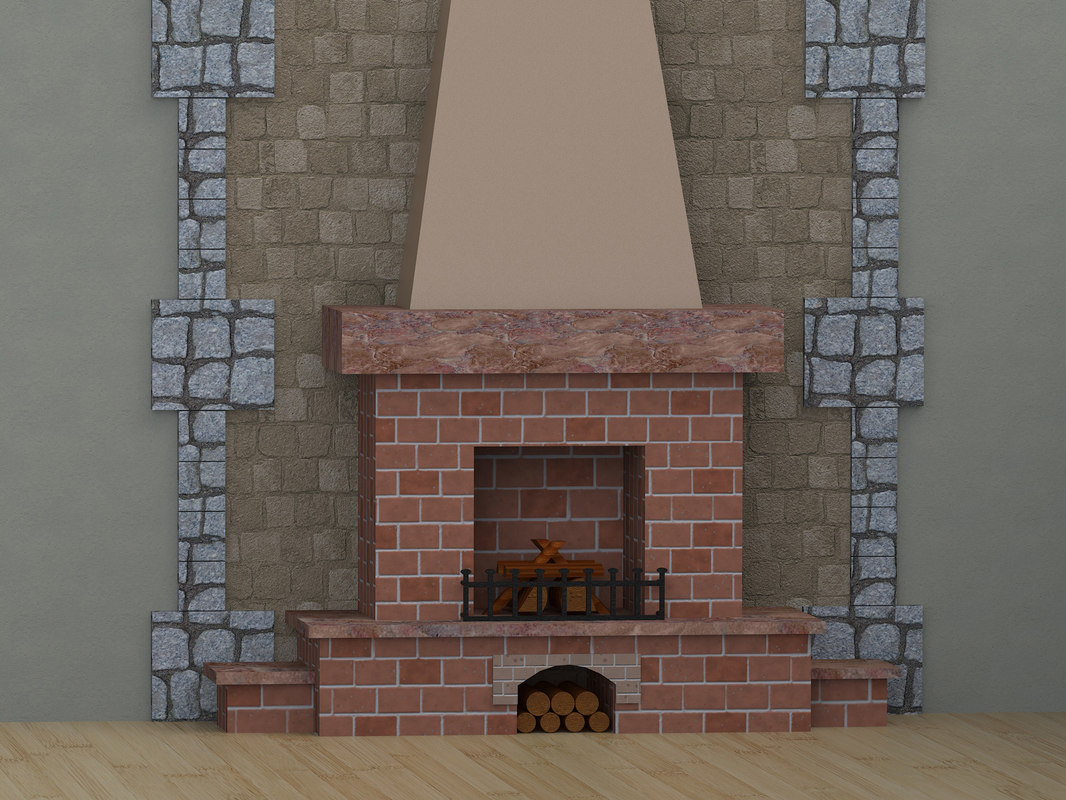 fireplace room c4d