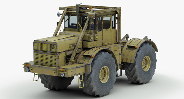 heavy tractor kirovetz k700 3d model