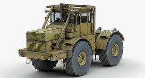 heavy tractor kirovetz k700 3d model