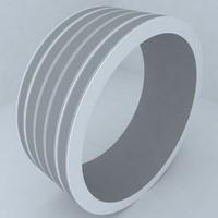 engagement wedding ring 3d model