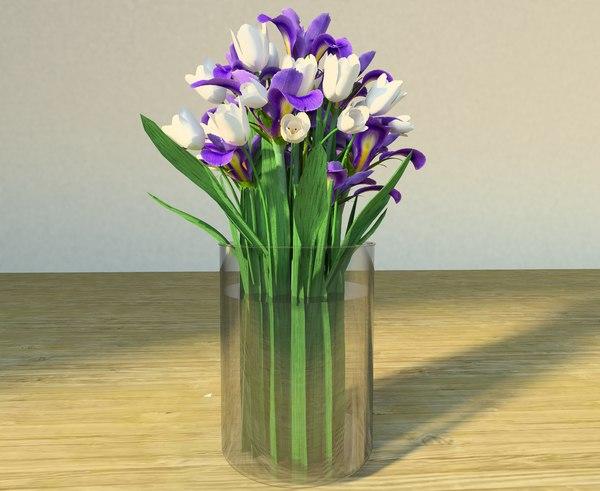 flowers vase 3ds