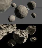 asteroids procedural 3d c4d