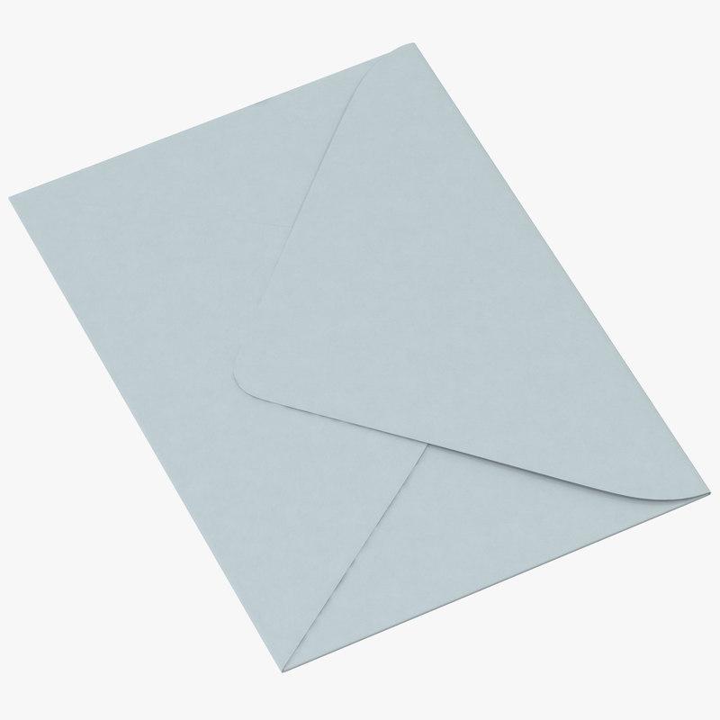 shower envelopes invitations 3d model