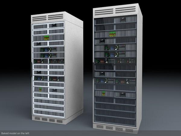 3d server unit model