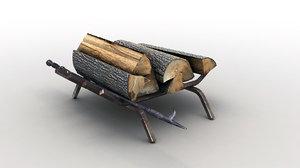 firewood storage rack 3d max