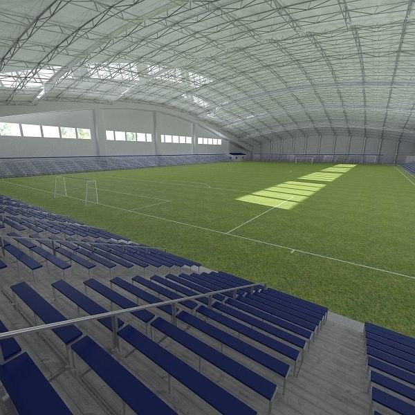 3d model indoor soccer arena