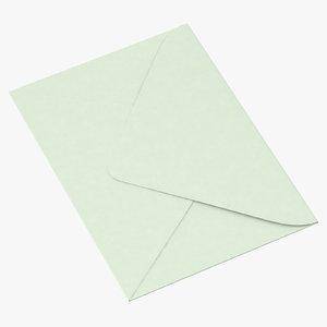 baby shower envelope closed c4d