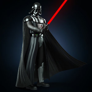 rigged darthvader 3d max