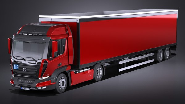 3d model generic semi truck