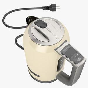 electric kettle kitchen 3d model