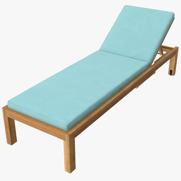 3d max outdoor chaise 01