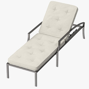 3d model outdoor chaise 02