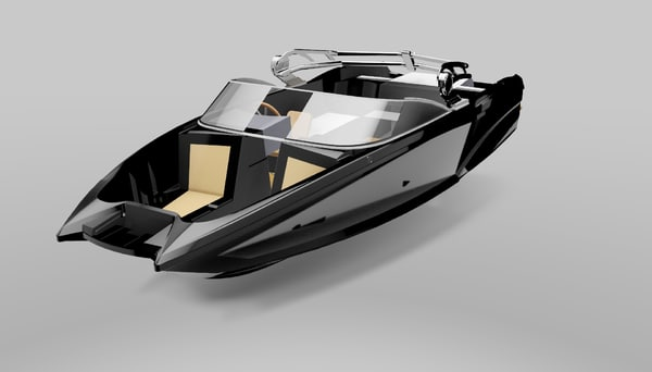 cool speed boat wla-01 3d model