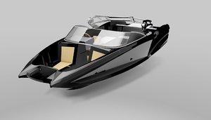 cool speed boat wla-01 3d model