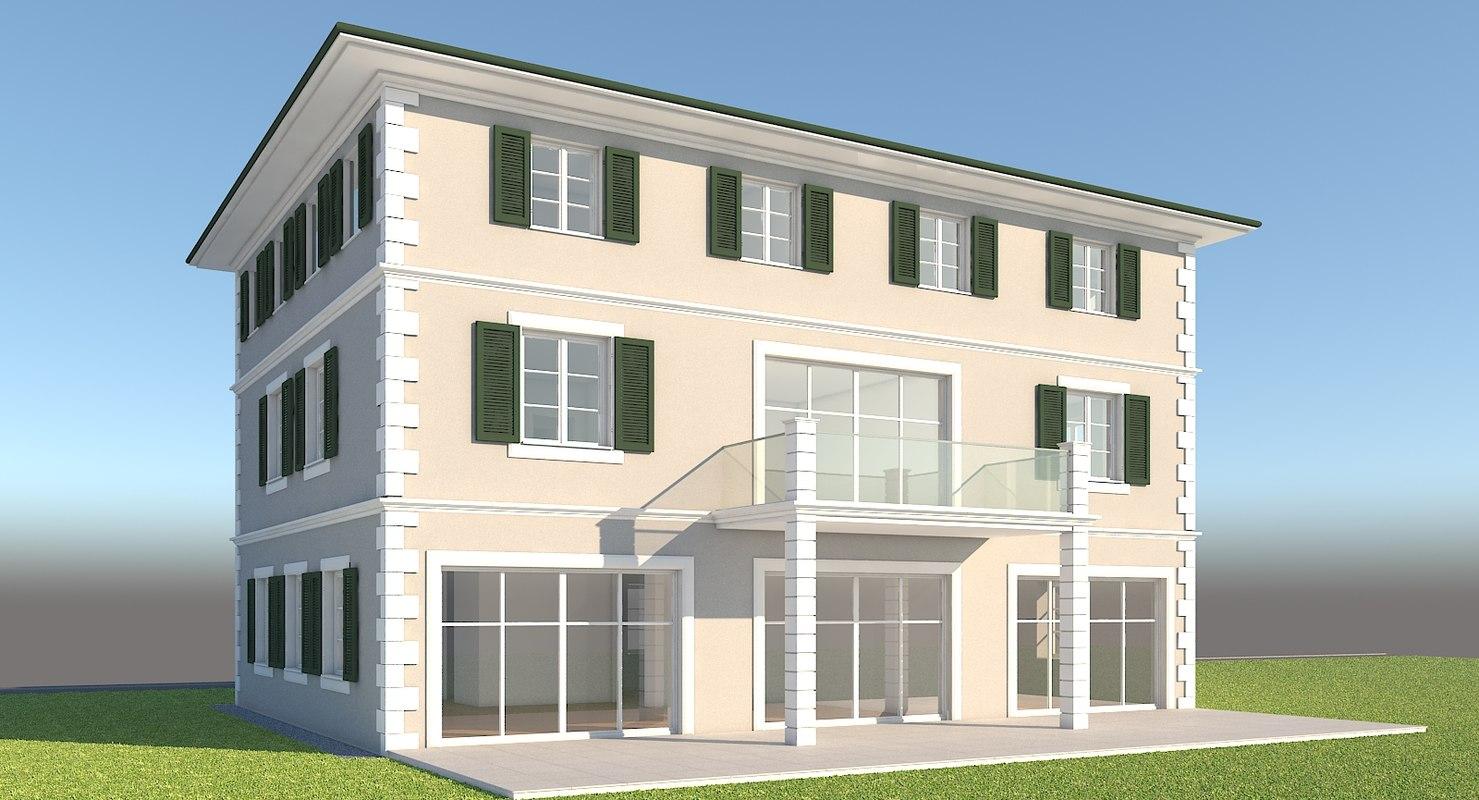 building house home 3d obj