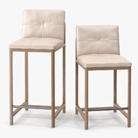 BasssamFellows Wood Frame Counter Stool & Wood Frame Bar Stool