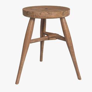 bddw milking stool 3d model
