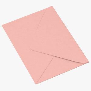 baby shower envelope closed 3d model