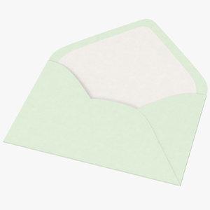 3d baby shower envelope open