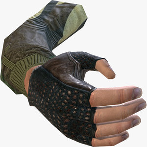 3d model hand person shooter