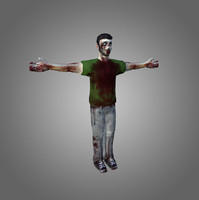 Zombie Male Low-Poly