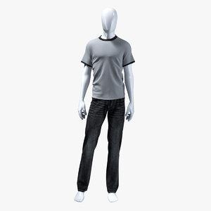 3d man jeans set