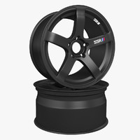 3d model rims ssr matte black