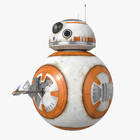 photorealistic bb-8 rigged 3d max