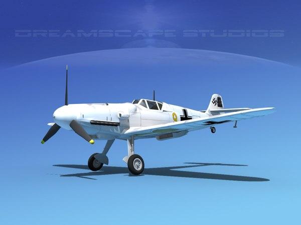 messerschmitt bf-109 fighter 3ds