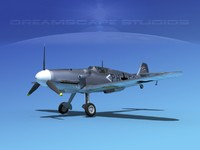 messerschmitt bf-109 fighter dxf