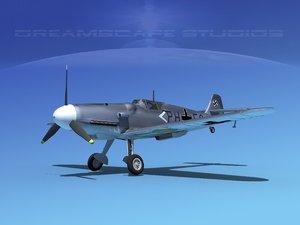 messerschmitt bf-109 fighter dxf