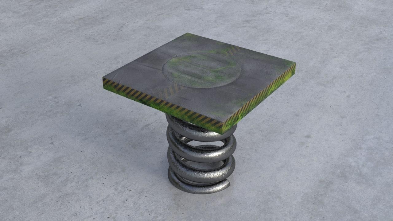 free button 3d model