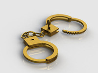 Handcuffs open with the key