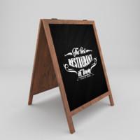 3d restaurant board model