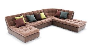 alexander sofa 3d model