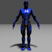 3d model fiction soldier