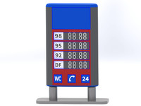 gas station billboard 3d model