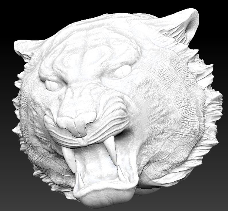 tiger head 3d model