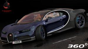 3d model complete bugatti chiron
