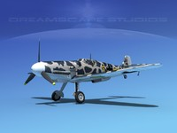 messerschmitt bf-109 fighter 3d dxf