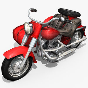 3d model heavy motorcycle sidecar