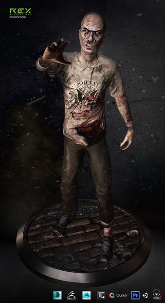 zombie lurker 3d model