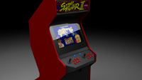 3d arcade gaming machine model