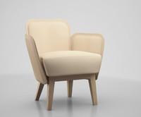 julius armchair blanche obj