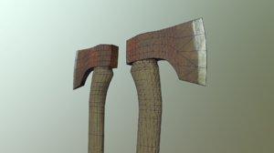 hatchet physically based 3d obj